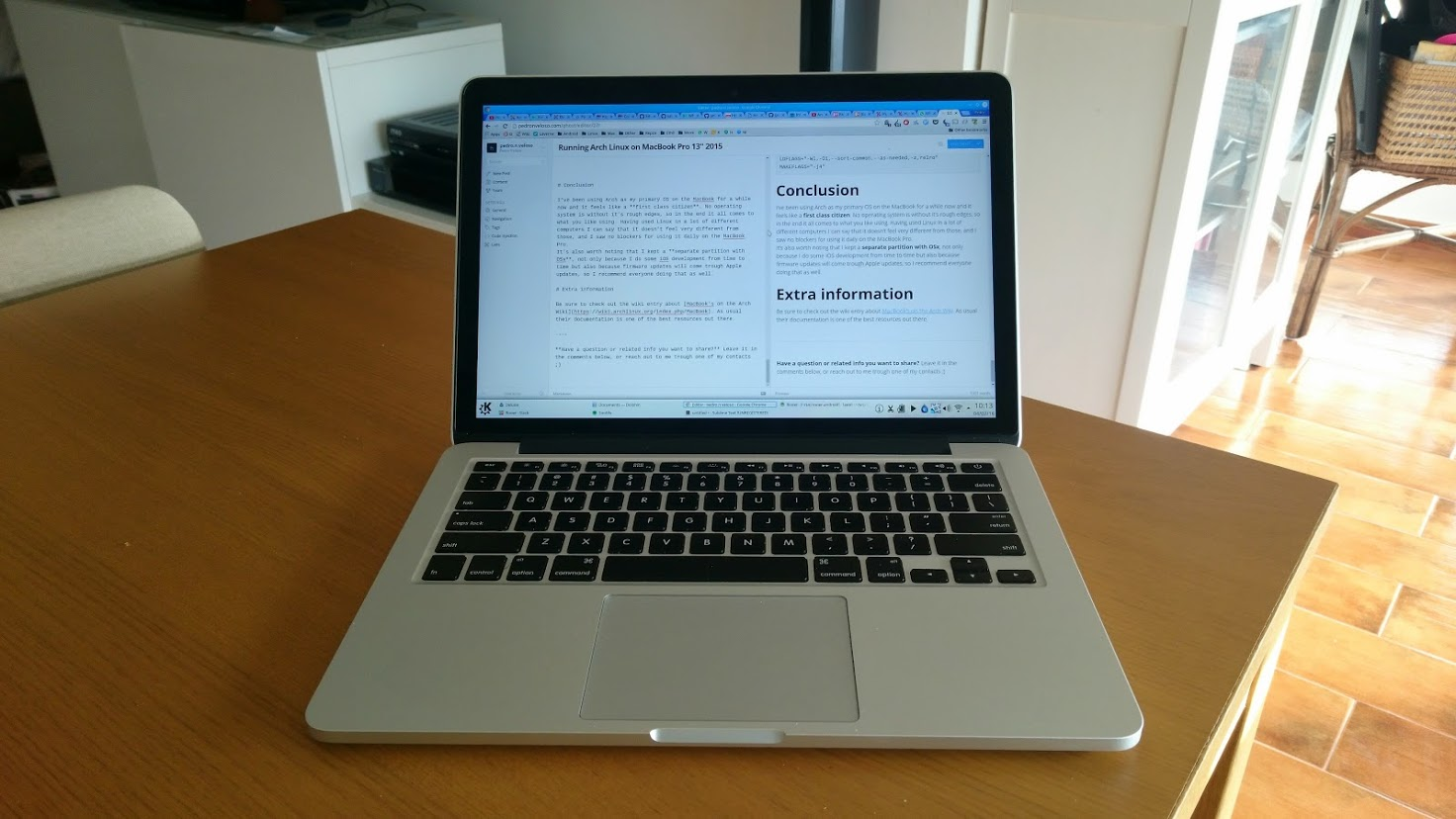 MacBook Pro 2015 Running Arch Linux