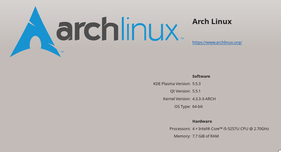 Running Arch Linux on MacBook Pro 13'' 2015