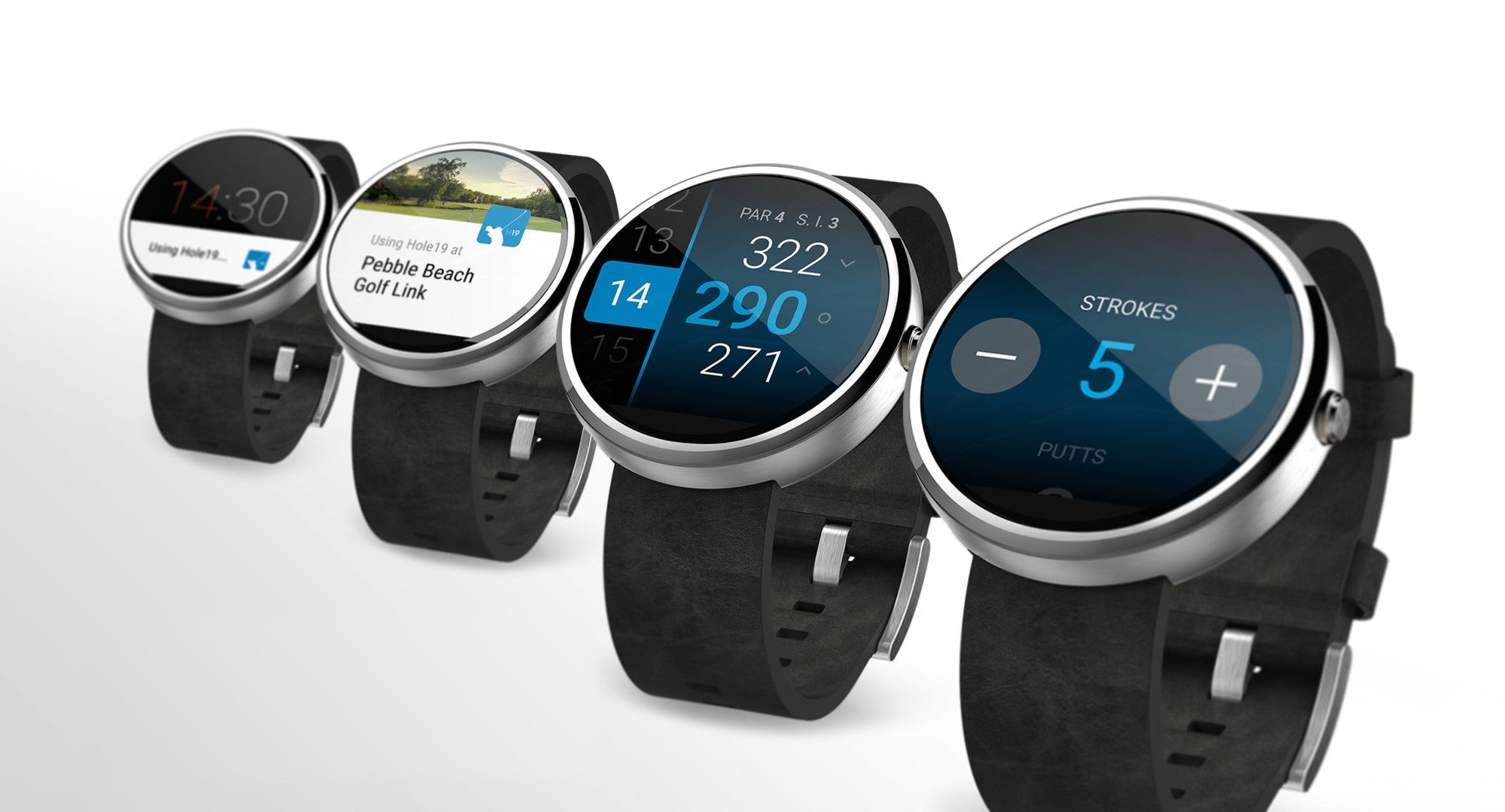 Hole 19 running on rounded screen Android Wear